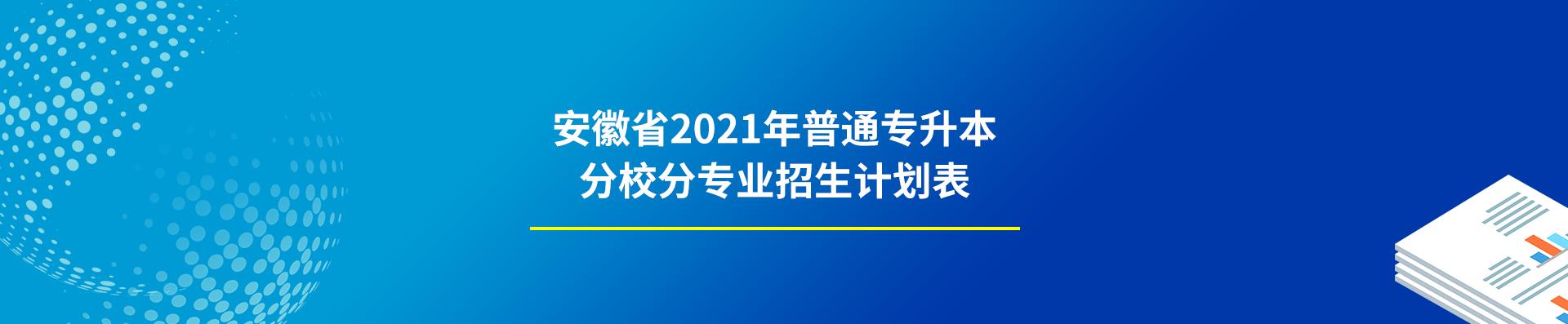 2021年安徽专升本分校招生计划